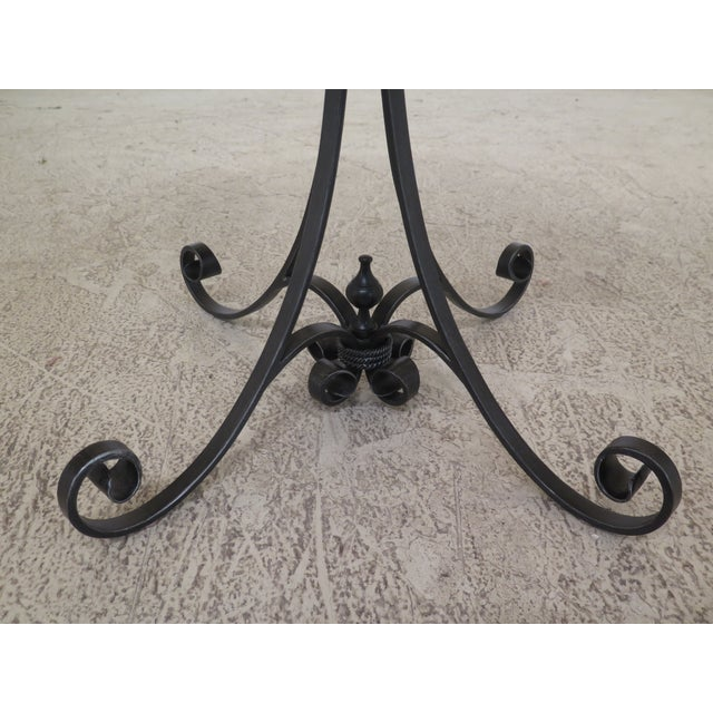 Metal Traditional Theodore Alexander Castle Bromwich Round Occasional Table For Sale - Image 7 of 10