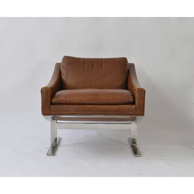 Kipp Stewart Pair of Kipp Stewart Leather Lounge Chairs For Sale - Image 4 of 6