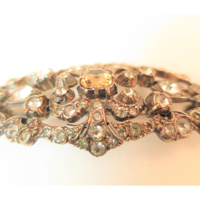 Edwardian Hand-Wrought Sterling & French Paste Brooch1905 For Sale In Los Angeles - Image 6 of 11