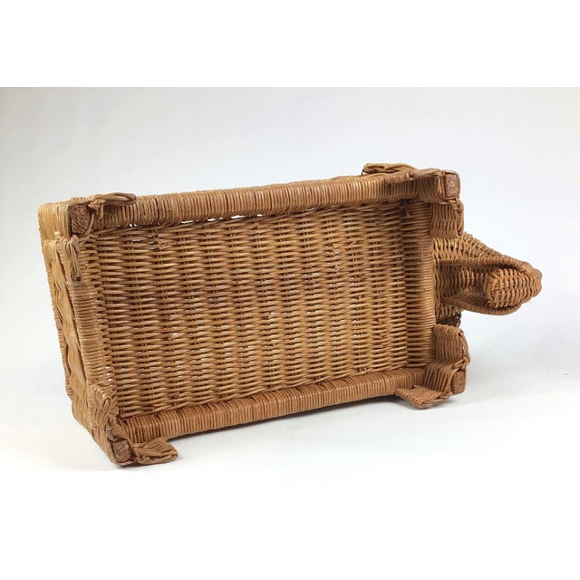 1970s Vintage Wicker Elephant Planter For Sale - Image 11 of 12