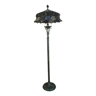 Tiffany Style Lamp with 3 Bulbs For Sale