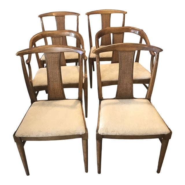 1960s Mid Century Modern Asian Inspired, Asian Inspired Dining Chairs