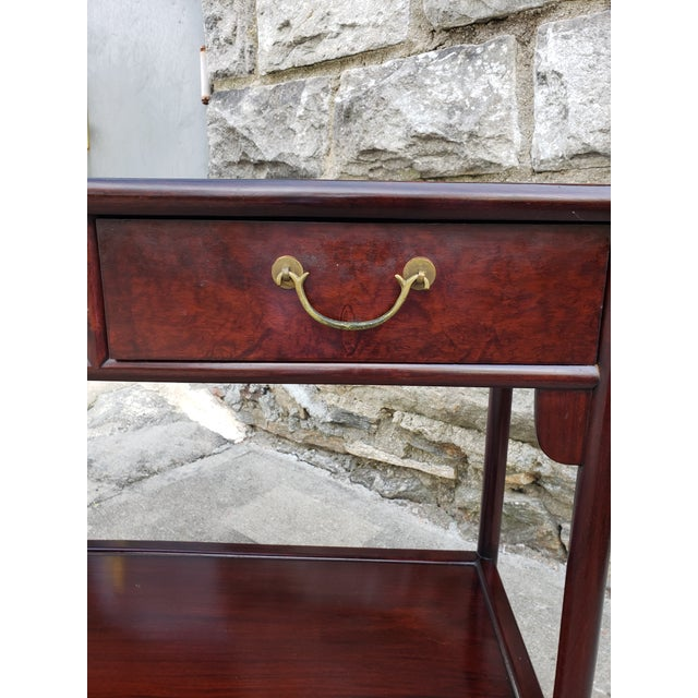 Metal Vintage Asian Rosewood Console Table For Sale - Image 7 of 13