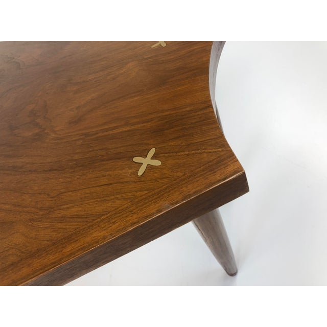 Mid-Century Modern Mid Century Modern Wedge Table - Merton Gershun for American of Martinsville For Sale - Image 3 of 13