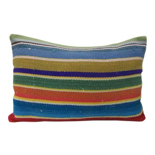 Colorful Striped Decorative Kilim Pillow For Sale