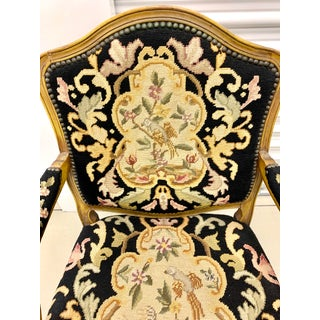 Carved Chair Fauteuil With Belgian Needlepoint Preview