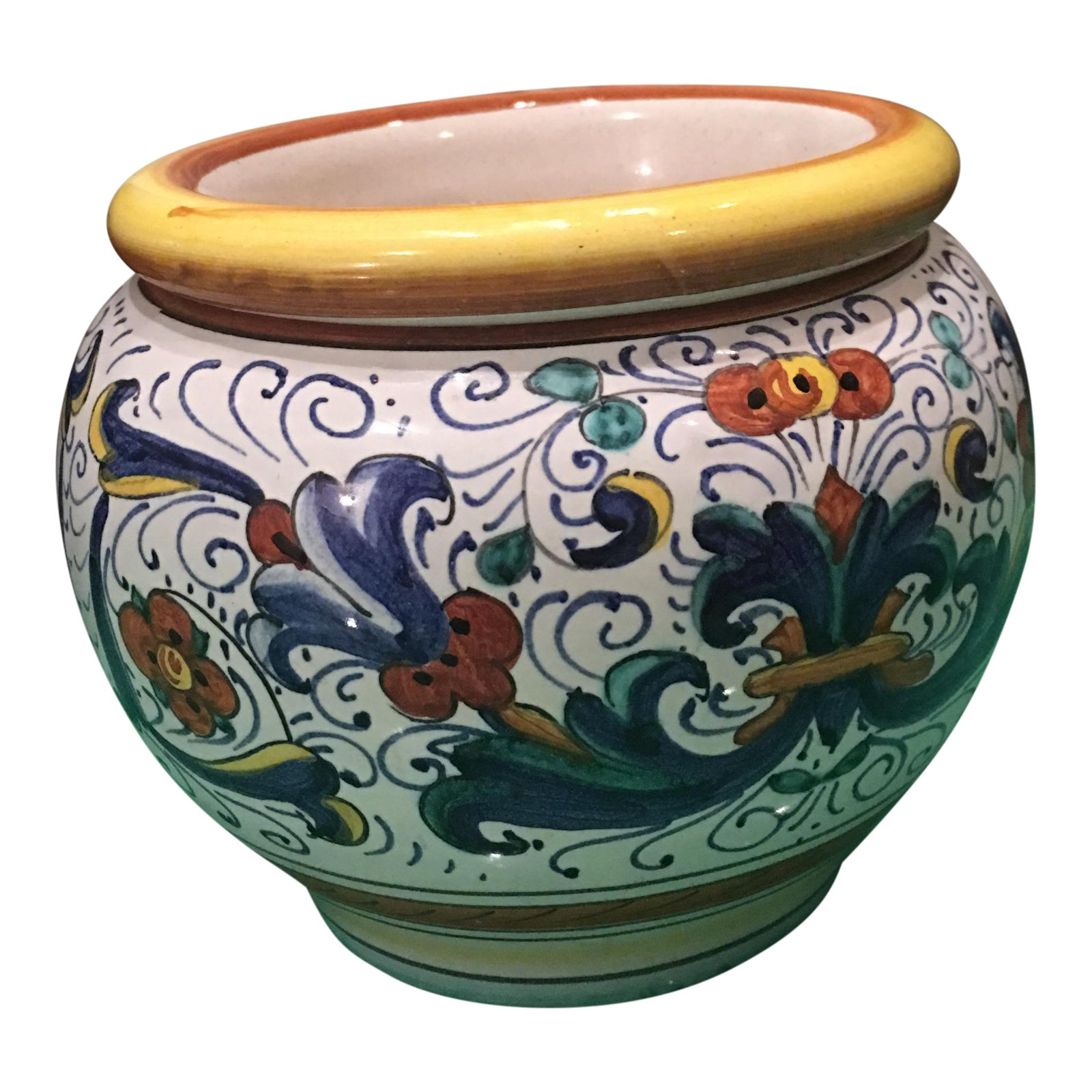 Franco Mari Deruta Hand Painted Italian Pottery Chairish
