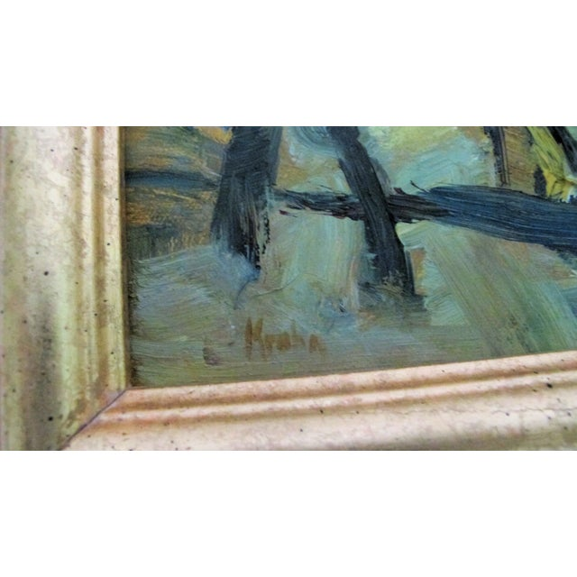 Figures & Trees Impressionistic Oil Painting - Image 4 of 5
