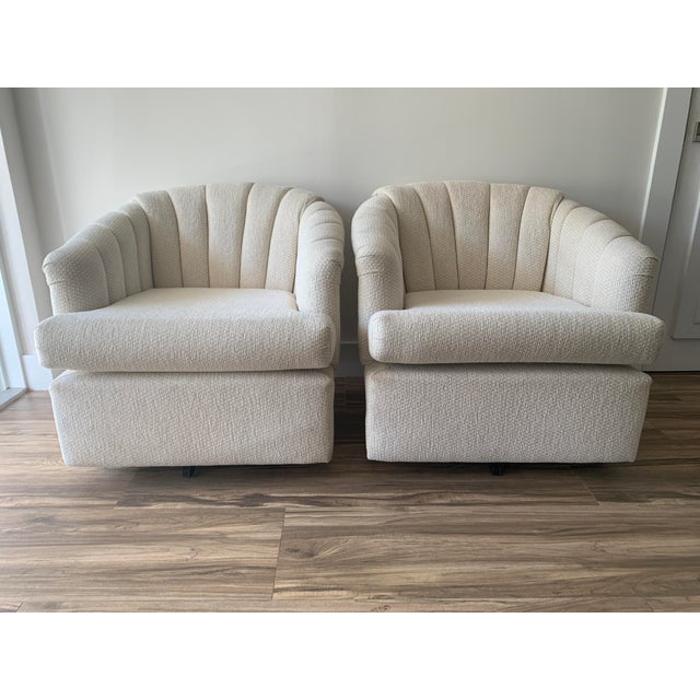 Channel Back Club Chairs in the Manner of Kagan - a Pair For Sale - Image 13 of 13