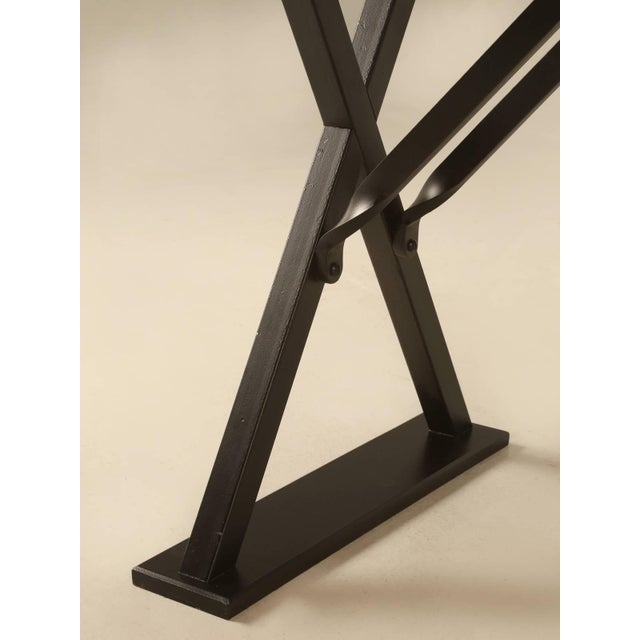Bronze Industrial Inspired Kitchen Table From French White Oak and Steel For Sale - Image 7 of 10