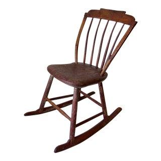 Antique Childs Wooden Rocking Chair