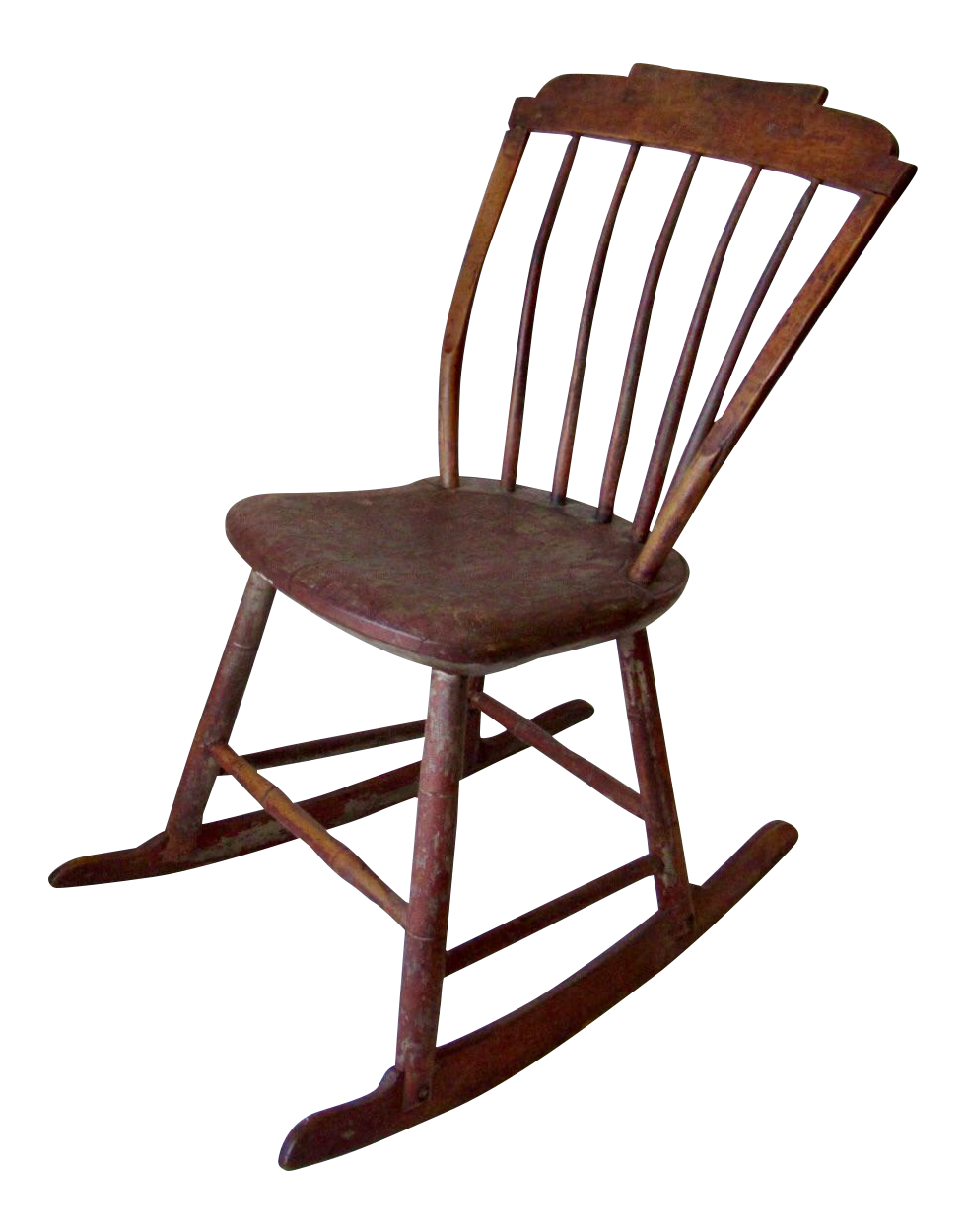 Antique Childs Wooden Rocking Chair For Sale