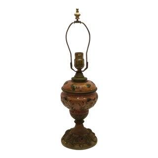 1920s Italian Ceramic Oil Lamp For Sale