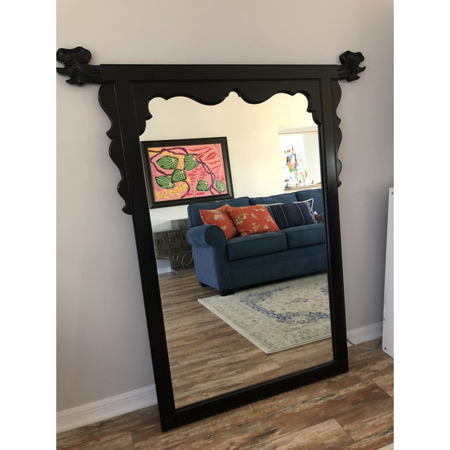 Stunning black, chinoiserie style mirror by Century Furniture. Perfect condition. This piece is such a statement and looks...