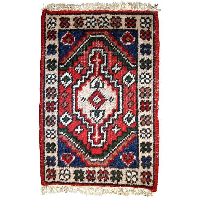 1970s, Handmade Vintage Persian Hamadan Rug 1.3' X 1.9' For Sale