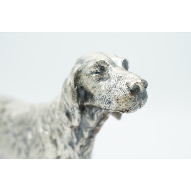 Vintage Silverplate Sporting Dog on Wooden Base For Sale - Image 4 of 11