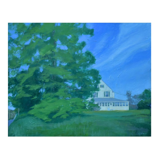 """Stephen Remick """"House Behind the Tree by the Road"""" Contemporary Painting For Sale"""