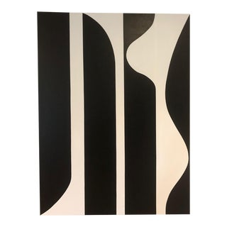 Modern Black and White Painting by Tony Curry For Sale