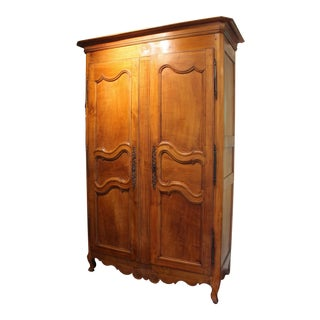 19th Century Country French Armoire For Sale