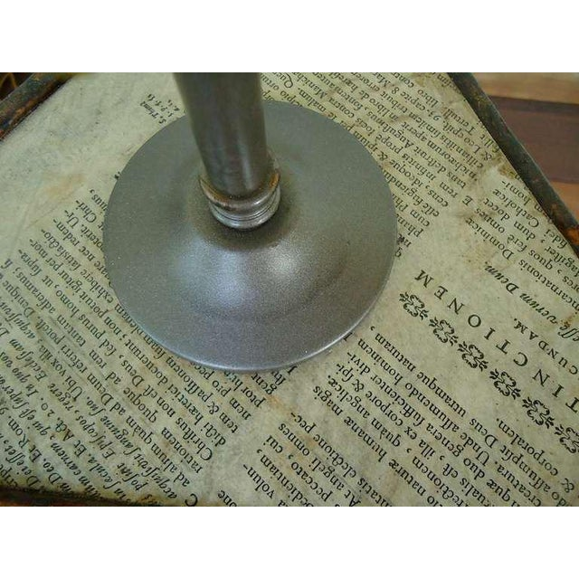 18th Century Vintage Oxford University Leather Bookboard Lamps- a Pair For Sale - Image 4 of 5