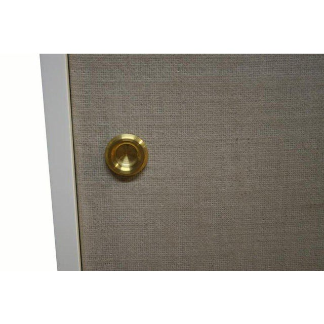 Customizable Bishop Lacquered Linen Door Console - Image 3 of 10