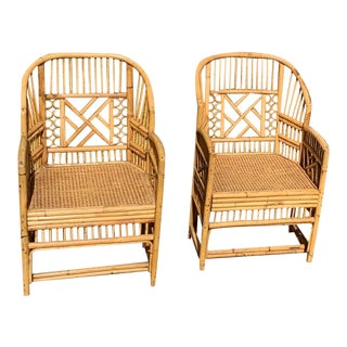 Antique Chinese Bamboo Chairs - A Pair For Sale