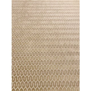 Kravet Smart 34376 16 Geometric Taupe / Gold Multipurpose Fabric - 6 Yards For Sale