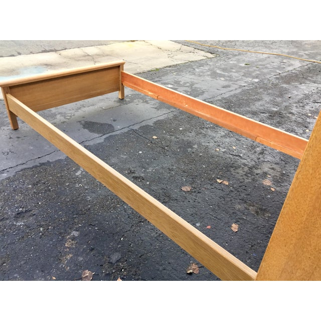 1950s Vintage Regency Campaign Inspired Twin Bedframe For Sale In San Francisco - Image 6 of 7