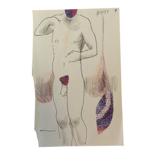 Male Nude Collage by James Bone 1997 For Sale
