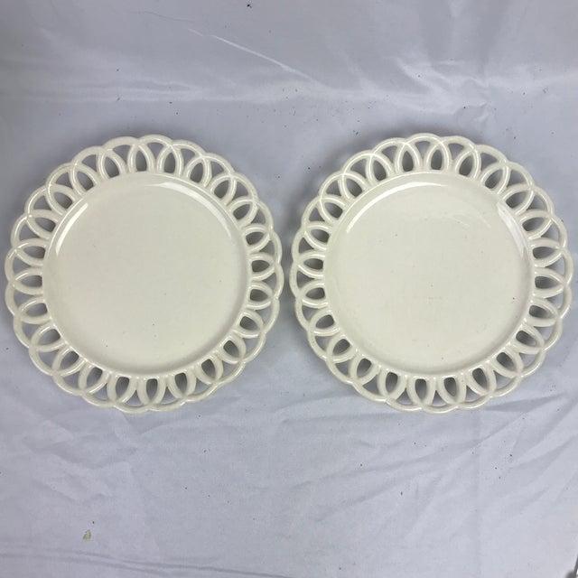 Swedish Creamware Plates, Pair For Sale - Image 4 of 4