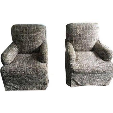 Lee Industries Designer Club Chairs - Pair - Image 1 of 5