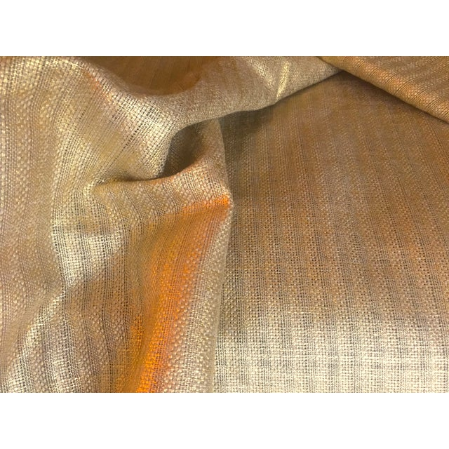 2010s Designer's Guild Sassiere Gold Linen Wide Width Fabric - 2.25 Yards For Sale - Image 5 of 10