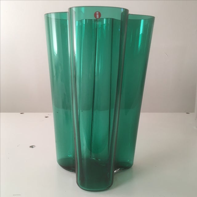 Finnish designer Alvar Aalto first showed this uniquely wavy vase at the World's Fair in 1937 - the shape caused an...