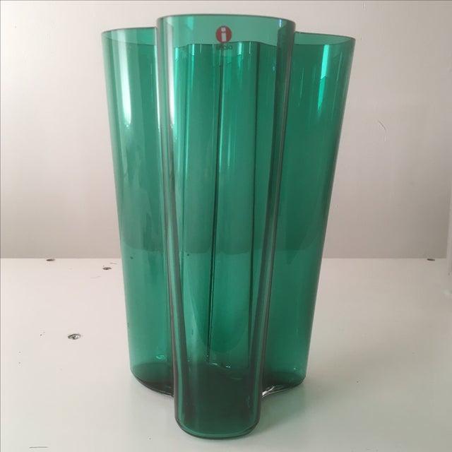Iittala Emerald Green Glass Aalto Vase - Image 2 of 6
