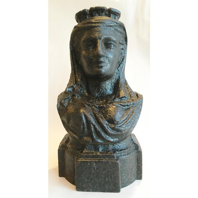 19th Century French Cast Iron Lady Bust Fragment - Image 5 of 7