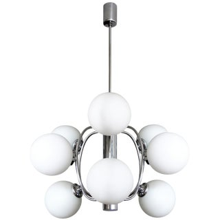 1970s Vintage German Atomic Chandelier For Sale