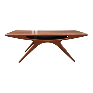 "Johannes Andersen ""Smile"" Teak Coffee Table For Sale"