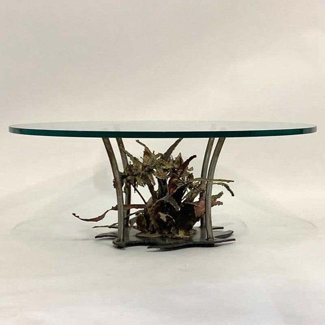 Silas Seandal Studio Brutalist Bloom Welded Bronze, Steel, & Copper Coffee Table For Sale - Image 13 of 13