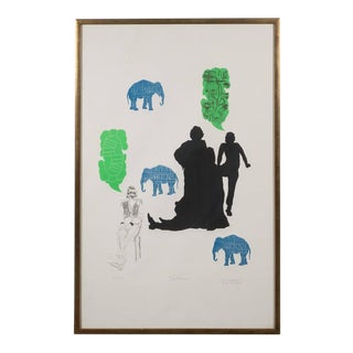"""The Dream"" Lithograph Printed in Colors, Depicting Jungle Scenes, 1968 For Sale"