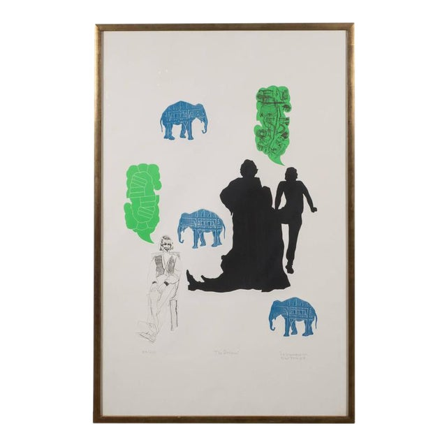 """""""The Dream"""" Lithograph Printed in Colors, Depicting Jungle Scenes, 1968 For Sale"""