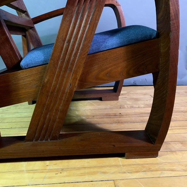 1930s Solid Teak Veranda Chair, Danish Colonial Indonesia For Sale - Image 4 of 11