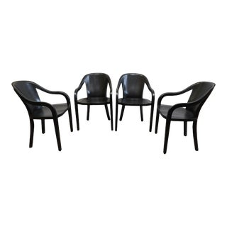Ward Bennett University Chair Set of Four For Sale