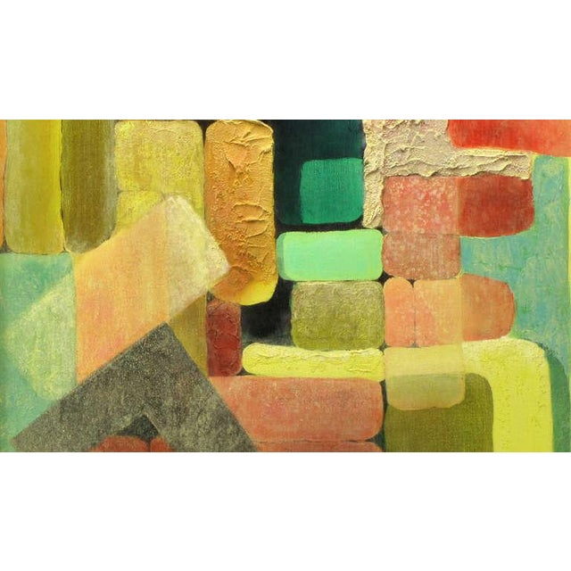1980s Abstract Relief Cubist Inspired Mixed Media on Canvas For Sale - Image 5 of 8