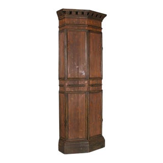 1960s Country Style Corner Cabinet For Sale