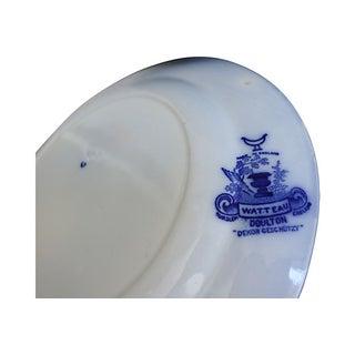 Antique Doulton Flow Blue Watteau Plates - Set of 14 Preview