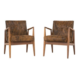 Set of Jens Risom Lounge Chairs For Sale