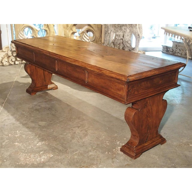 19th Century Walnut Wood Refectory Table From Italy For Sale - Image 12 of 12