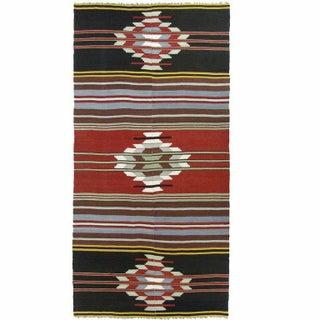 Vintage Turkish Kilim Flatweave - 4'2'' x 9'4''