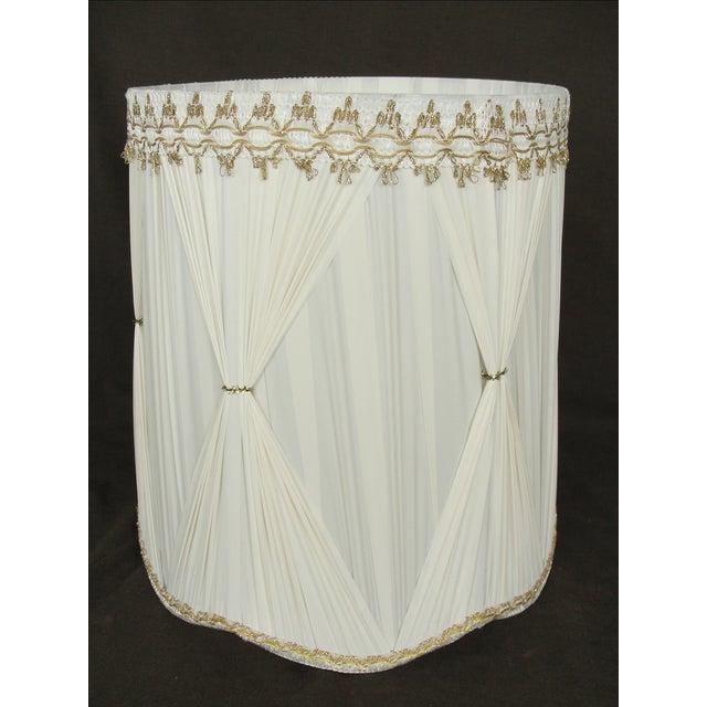 Vintage Mid-Century Modern Cloth Lamp Shade - Image 3 of 6