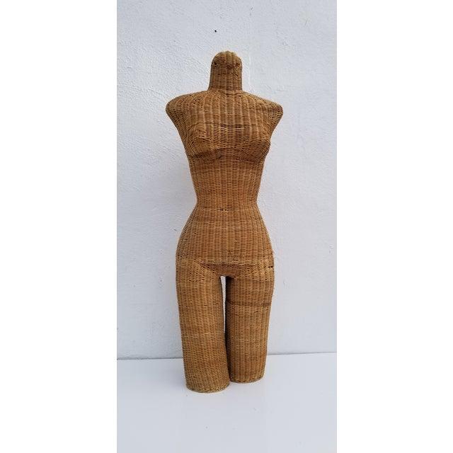 1970s Figurative Wicker Female Mannequin Torso For Sale - Image 13 of 13